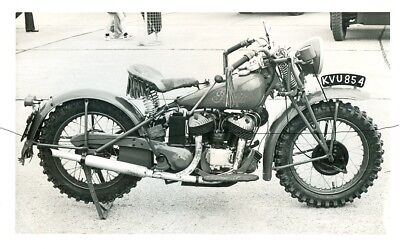 Motorbike Photo Photograph,pre 1961 Motorcross Spedway Bike On A Picture.