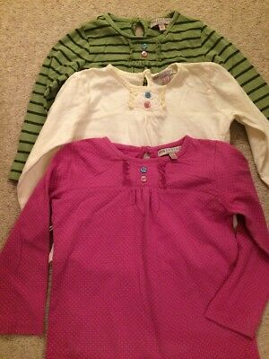 Girls Long Sleeved Tops X 3 Age 2-3 M&S