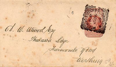 Gb Queen Victoria 1889 Newspaper Wrapper Entire Bearing Halfpenny Prepaid Stamp