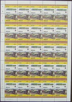1929 LNER HUSH-HUSH Class W No.10000 Train 50-Stamp Sheet (Leaders of the World)