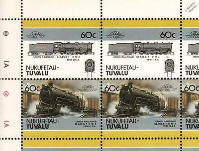1936 Union Railroad (URR) Class S-7 0-10-2 Train 50-Stamp Sheet / LOCO 100 LOTW