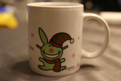 Happy Bunny Elf Centered Holiday Theme Coffee Mug by Jim Benton