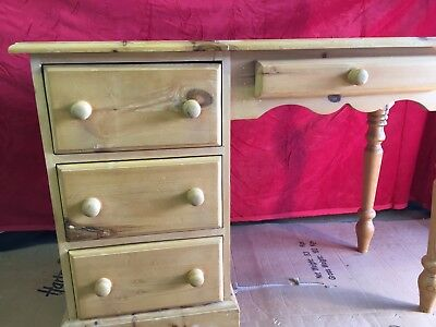 Small pine desk or dressing table