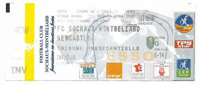 Ticket 2004/05 UEFA Cup - FC SOCHAUX-MONTBELIARD v. NEWCASTLE UNITED