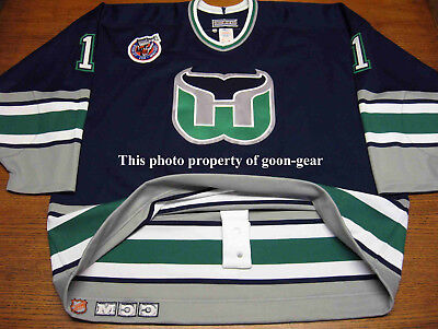 1992-93 Hartford Whalers Sean Burke CCM Authentic Ultrafil On Ice Game Jersey 56