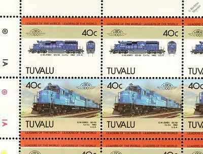 1982 Conrail General Motors EMD Class SD50 Train 50-Stamp Sheet / LOCO 100 LOTW