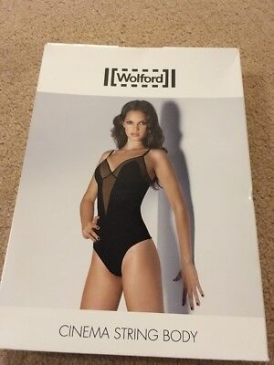 Wolford 79001 Cinema String Body Shadow Pink Medium BNIB