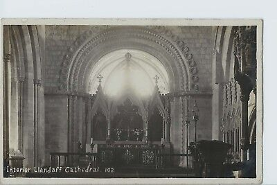 Vintage Photograph Postcard - Llandaff Cathedral -Posted Cardiff 18th March 1913