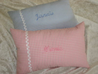 Pillow,Cuddly Pillow with Name,Washable,Gift to Birth,Christening,Embroidered