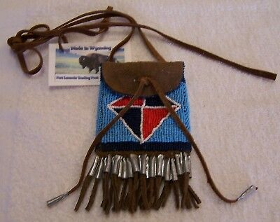 Hand Made Beaded Neck Pouch Rendezvous Black Powder Mountain Man