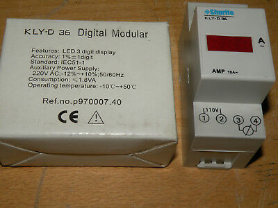Prime Technology Shurite 10 Amp LED Display DIN Rail Mount KLY D36 10A-AC-III-R
