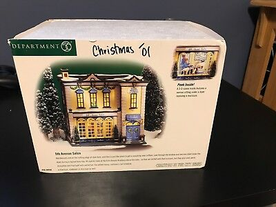 Department 56 Christmas in the City 5th Avenue Salon 56.58950 Retired Lighted