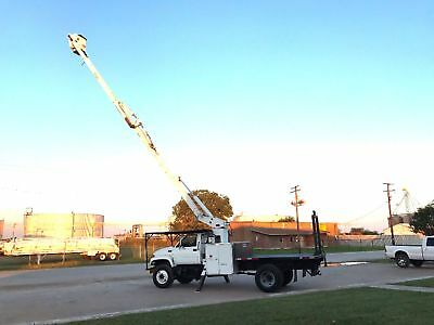 Gmc 7500 Forestry Bucket Truck Over-Center 60 Foot W/ Flat Bed Diesel Low Miles