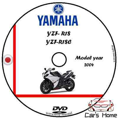 MANUALE OFFICINA YZF-R1S & YZF-R1SC my 2004 WORKSHOP MANUAL DVD