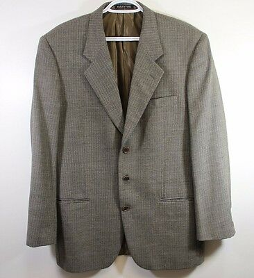 VALENTINO 3 Button Wool Blazer Pinstripes Made in Italy  Chest 44 Length 30.5