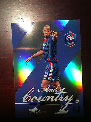 2017 Panini Nobility Soccer Thierry Henry And Country