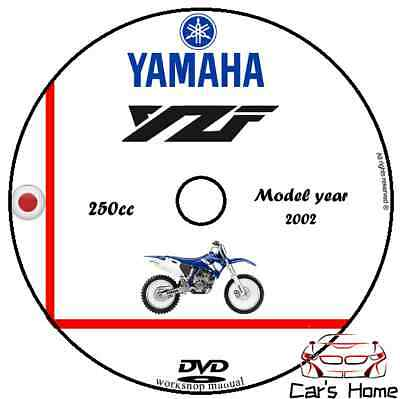 MANUALE OFFICINA YZF 250 my 2002 WORKSHOP MANUAL DVD