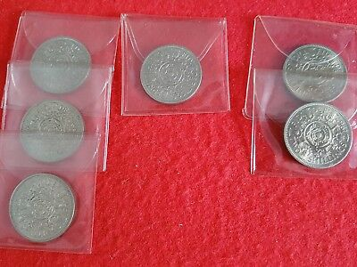 Lot Of 6 Elizabeth Ii Shillings Near Uncirculated - Very Fine Condition