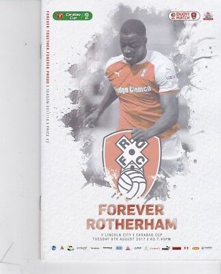 Rotherham United v Lincoln City (Carabao Cup) 08.08.2017