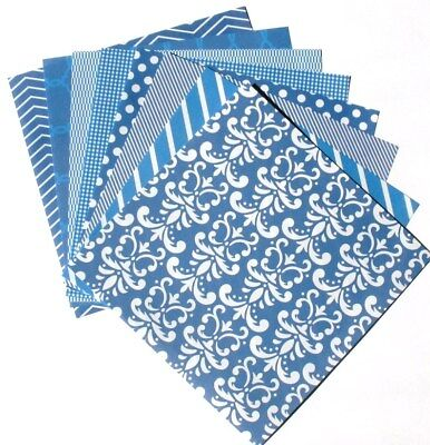 True Blue - 6x6 Recollections Home Basics Scrapbooking Paper Pack