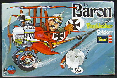1971 Revell Models THE BARON AND HIS FUNFDECKER FOKKER Deal's Wheels *NMIB*