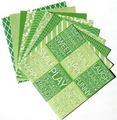 Lime Green - 6x6 Recollections Home Basics Scrapbooking Paper Pack