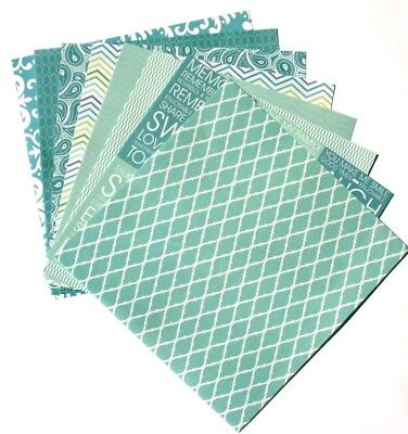 Seaglass Blue - 6x6 Recollections Home Basics Scrapbooking Paper Pack