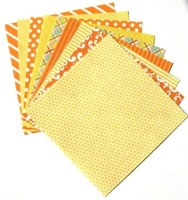 Citrus Yellow - 6x6 Recollections Home Basics Scrapbooking Paper Pack