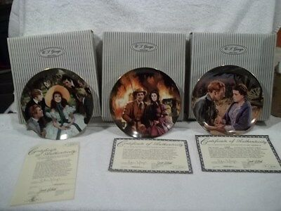 GONE WITH THE WIND PLATES  Golden Anniversary Series  Entire set of 12 plates