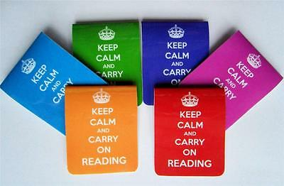 Keep Calm And Carry On Reading - Magnetic Bookmark - Choice of Colour -