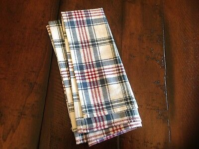 "Longaberger Cloth Napkin - 1. Woven Traditions Plaid. NEW. 16"" Square"