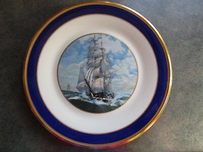 Lenox Special Clipper Ship Dinner Plate with Gold Trim