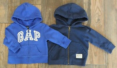 Pair of Baby Gap Boys Long-Sleeve Hoodies, Size 12-18 Months *EUC*