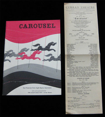 Carousel VTG Theater Program/Playbill Curran Theatre San Francisco 1953