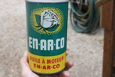 Vintage Un-Opened ENARCO WHITE ROSE MOTOR OIL TIN CAN QUART GAS PUMP SIGN