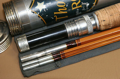 "F.E. Thomas Special 9' 6"" 3/2 7wt Bamboo Fly Rod w/ Original Sock and Tube EX NR"