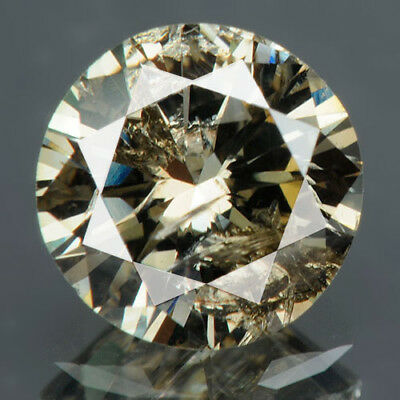 0.79 Cts. CERTIFIED Round Brilliant Cut Golden Brown Loose Natural Diamonds 4090