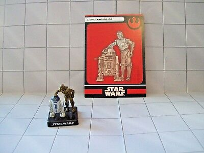WotC Star Wars Miniatures C-3P0 and R2-D2, Alliance & Empire 05/60, Rebel, Rare