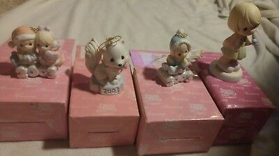 Precious Moments Lot of 4 2003 112841 112876 112843 890626 Christmas Heart Gold