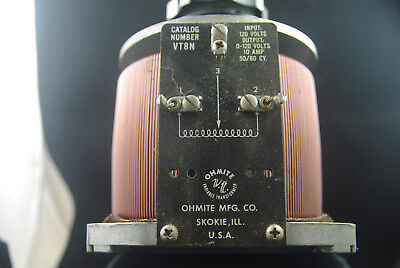 Variac Type Auto Transformer, Ohmite Model VT8N