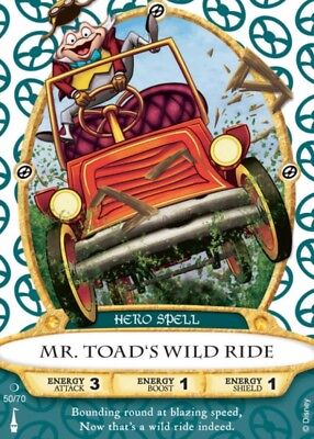 DISNEY - Mr. Toads Wild Ride - Hero Spell/Card 50 Socerers Of The Magic Kingdom