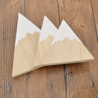 3 Pcs Figurines Wooden Iceberg Shape Decoration Kid's Room Decor Camera Props