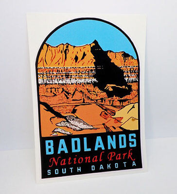 BADLANDS NATIONAL PARK South Dakota Vintage Style Decal / Vinyl Sticker