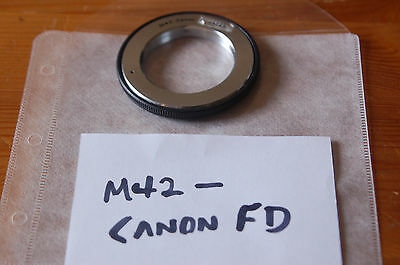 Adapter for M42 lenses on Canon FD Camera - WORKING