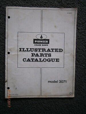 Pioneer Chainsaw Model 3071 Illustrated Parts Catalogue.