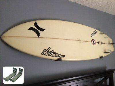 Surfboard Wall Rack x 2 Set -  Can Hold Shortboards & Longboards