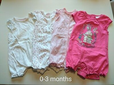 Baby Girls Bundle of sleepsuits..rompers..ect 3-9 months
