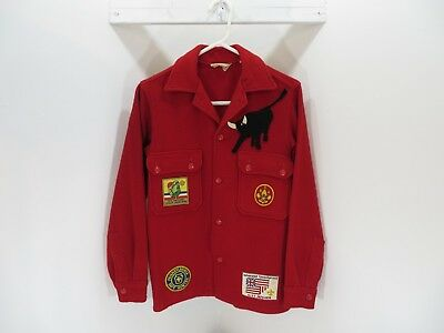 Boy Scouts of America Official Jacket - 100% Wool - Size 18 - W/19 Patches