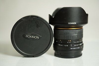 Rokinon 14mm f/2.8 IF AS ED Lens For Sony A-Mount a99 a99ii a77 a77ii