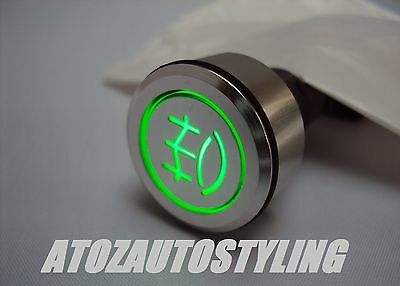 Savage Push Button FRONT FOG Switch Latching GREEN <<NEW>>